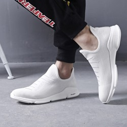 Shoespie Slip-On Low-Cut Upper Mesh Men's Sneakers