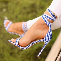 Shoespie Sexy Stiletto Heel Lace-Up Open Toe Dress Sandals