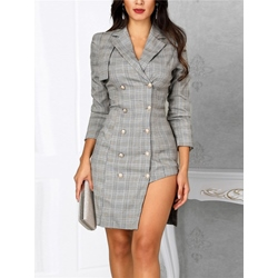 Above Knee Asymmetric Office Lady Women's Bodycon Dress