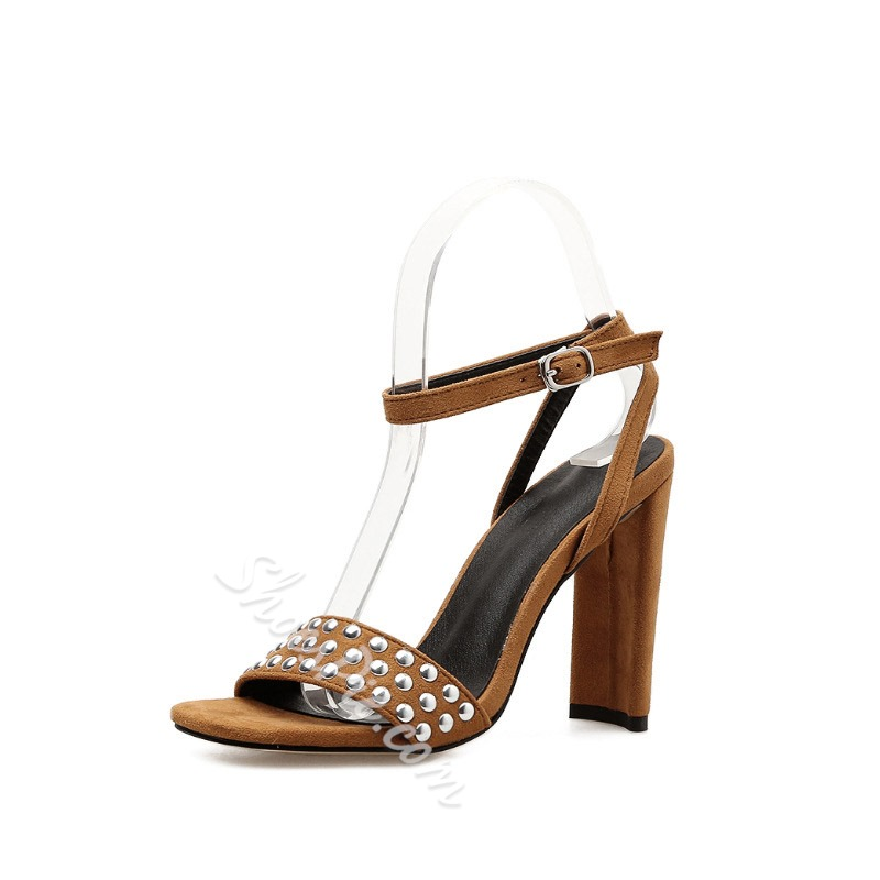 Shoespie Stylish Line-Style Buckle Ankle Strap Open Toe Sandals