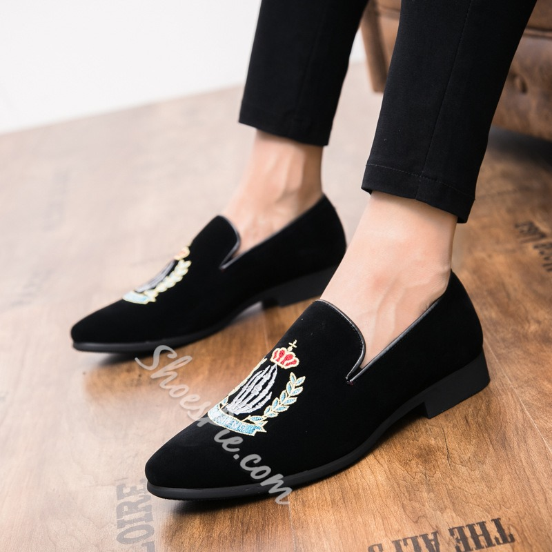 Shoespie Low-Cut Upper Slip-On Pointed Toe Men's Loafers