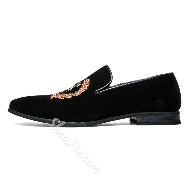 Shoespie Flat Heel Low-Cut Slip-On Round Toe Men's Loafers