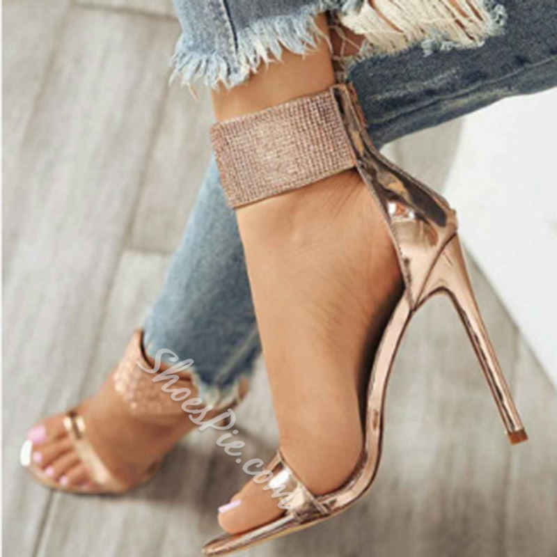 Shoespie Trendy Open Toe Heel Covering Stiletto Heel Dress Sandals