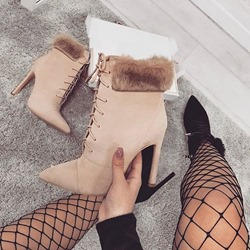 shoespie Trendy Stiletto Heel Plain Pointed Toe Casual Boots