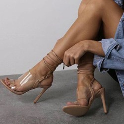Shoespie Sexy Stiletto Heel Open Toe Lace-Up Sandals