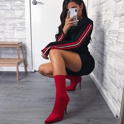 shoespie Trendy Plain Pointed Toe Stiletto Heel Casual Boots