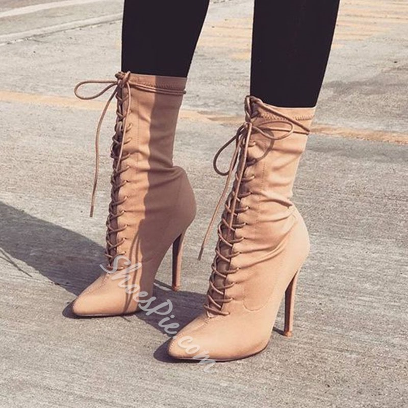 Shoespie Stylish Pointed Toe Stiletto Heel Ankle Boots