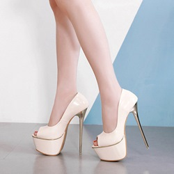 Shoespie Sexy Platform Peep Toe Slip-On Stiletto Heels