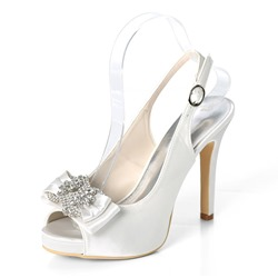 Shoespie Trendy Peep Toe Slingback Strap Stiletto Heel Wedding Bridal Shoes