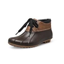 Shoespie Trendy Lace-Up Front Round Toe Hunter Ankle Boots