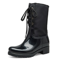 Shoespie Back Zip Warm Round Toe Rain Ankle Boots