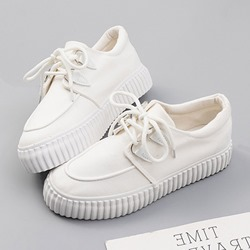 Shoespie Stylish Round Toe Low-Cut Upper Platform Sneakers