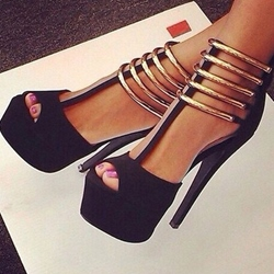 Shoespie Stylish Stiletto Heel Platform Zipper Dress Sandals