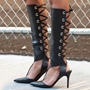 Shoespie Sexy Lace-Up Back Pointed Toe Gladiator Sandals