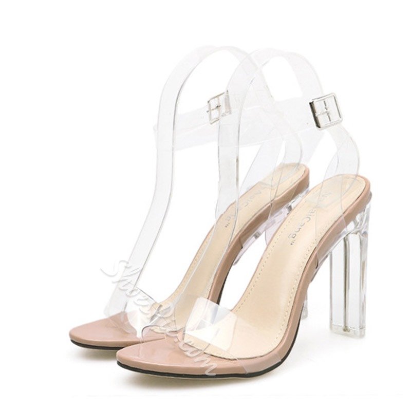 Shoespie Stylish Line-Style Buckle Ankle Strap Open Toe Dress Sandals