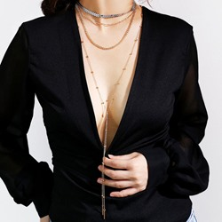 Sexy V Type Multi-Layer Pendant Necklace