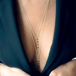 Chic Beading E-Plating Body Chain