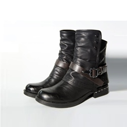 Shoespie Stylish Chunky Heel Side Zipper Vintage Ankle Boots