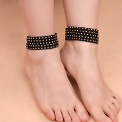 Full Drill Punk Style Anklet