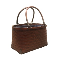 Shoespie Knitted Plain Rectangle Bamboo Tote Bags