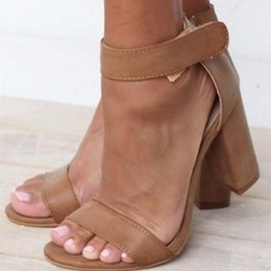 Shoespie Trendy Velcro Heel Covering Open Toe Dress Sandals