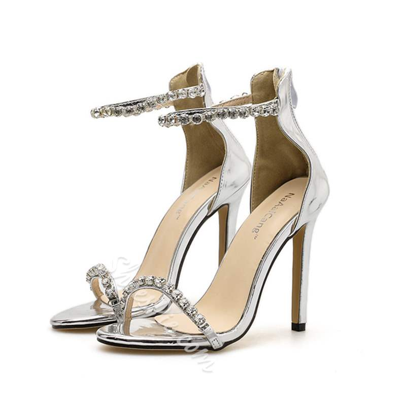 Shoespie Trendy Open Toe Heel Covering Zipper Dress Sandals