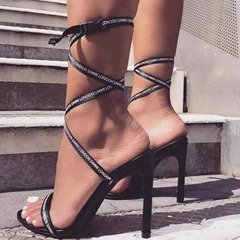 Shoespie Sexy Stiletto Heel Strappy Round Toe Dress Sandals
