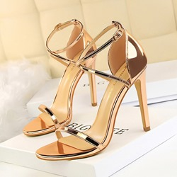 Shoespie Sexy Covering Open Toe Buckle Heel Sandals