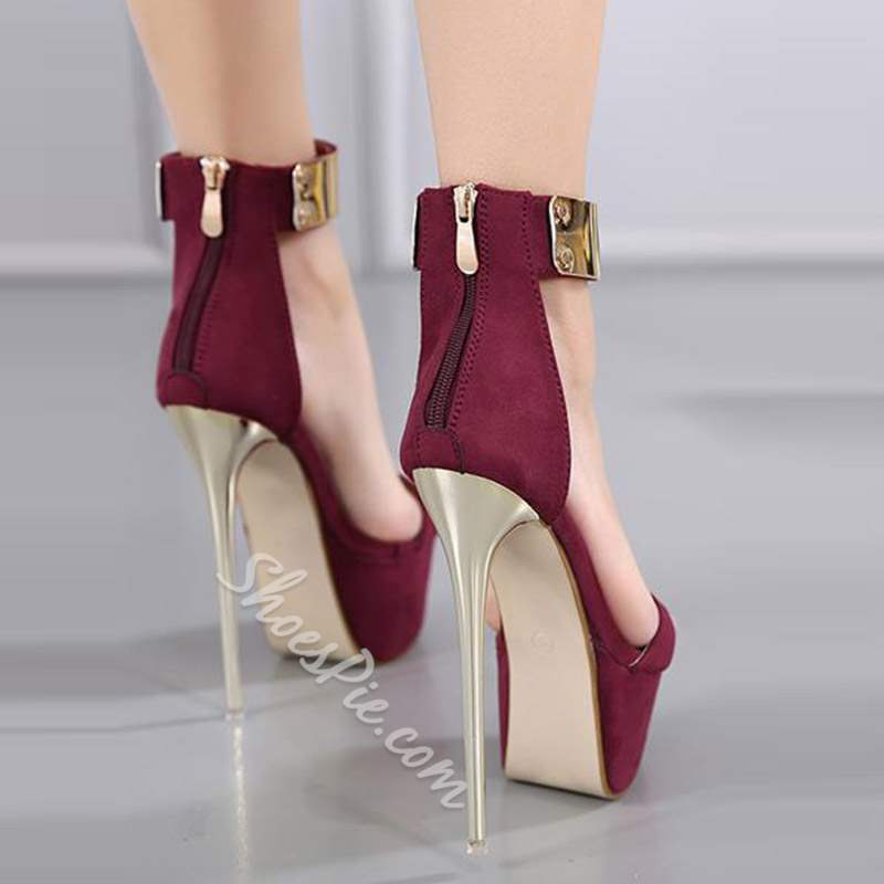 Shoespie Sexy Open Toe Heel Covering Zipper Dress Sandals