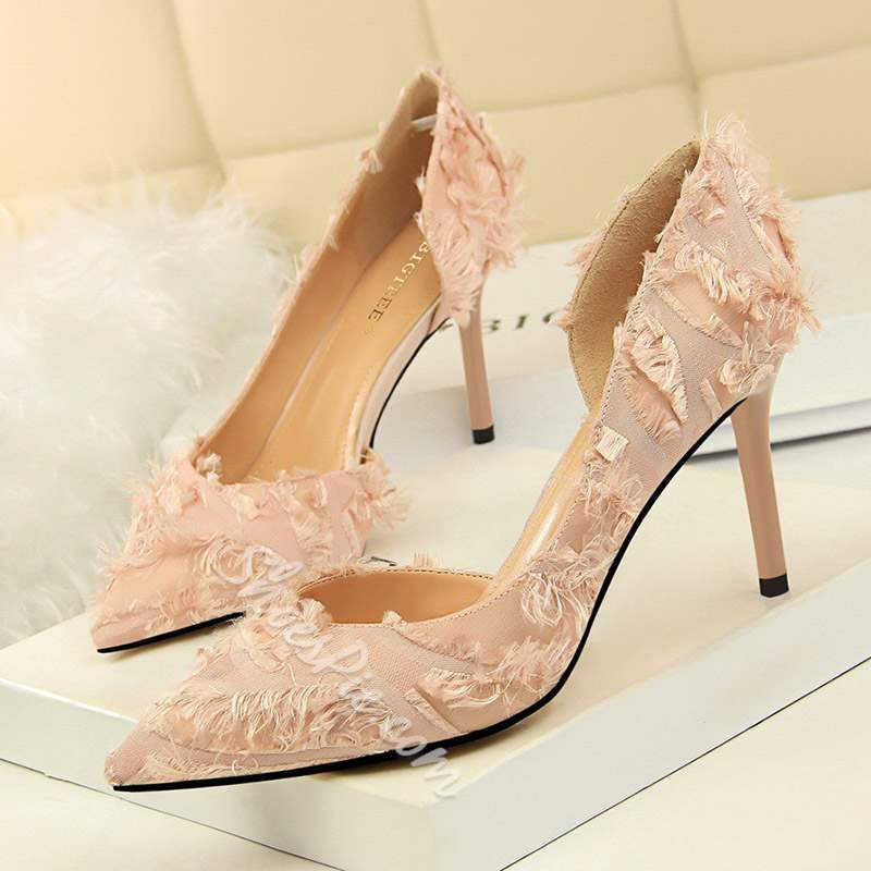 Shoespie Stylish Slip-On Pointed Toe Banquet Stiletto Heels