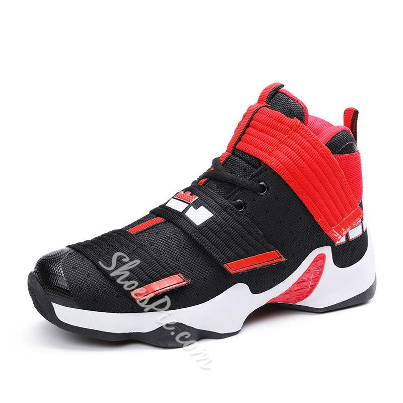 Shoespie Velcro High Cut Upper Mesh Men's Sneakers