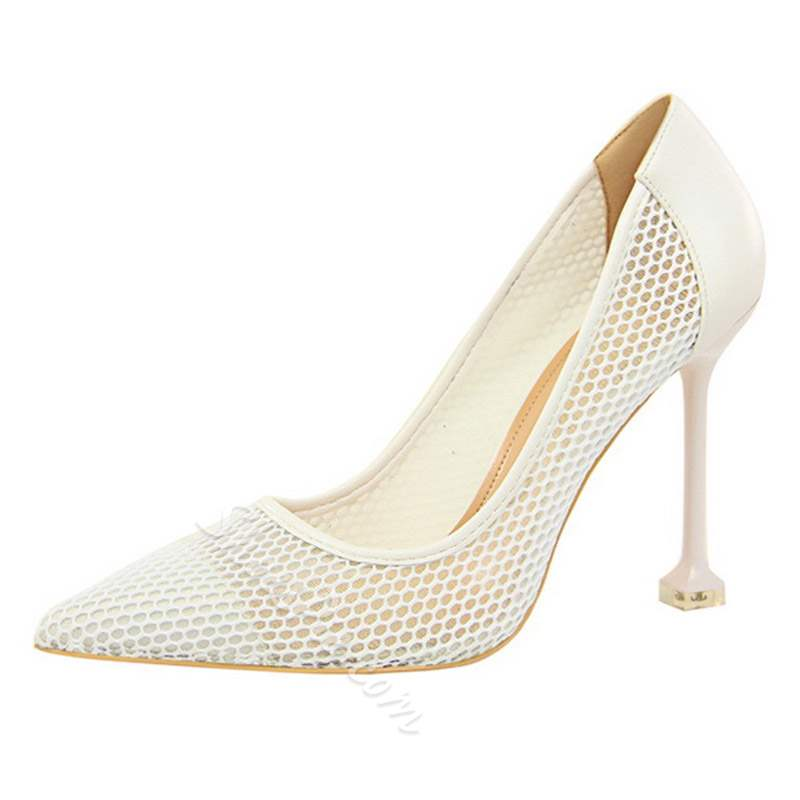 Shoespie Sexy Hollow Out Slip-On Plain Stiletto Heels