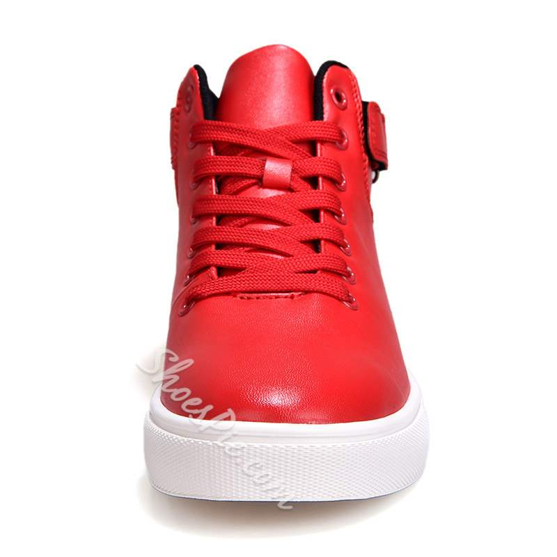 Shoespie Lace Up High Cut Upper Men's Sneakers