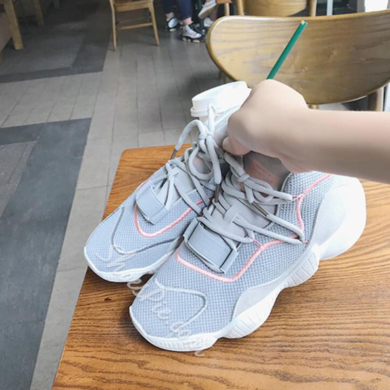 Shoespie Stylish Platform Round Toe Low-Cut Upper Casual Sneakers