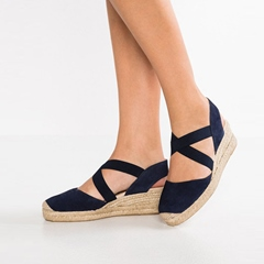 Shoespie Elastic Band Black Wedge Heel Sandals