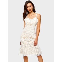 Lace Sexy Polyester Women's Bodycon Dress