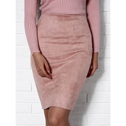 Plain Knee-Length Bodycon Fashion Women's Skirt
