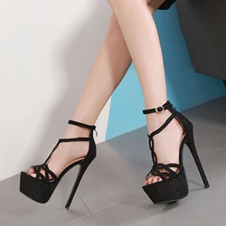 Shoespie Stylish Stiletto Heel Heel Covering Open Toe Banquet Sandals