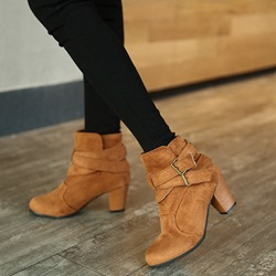 Shoespie Stylish Chunky Heel Hasp Ankle Boots