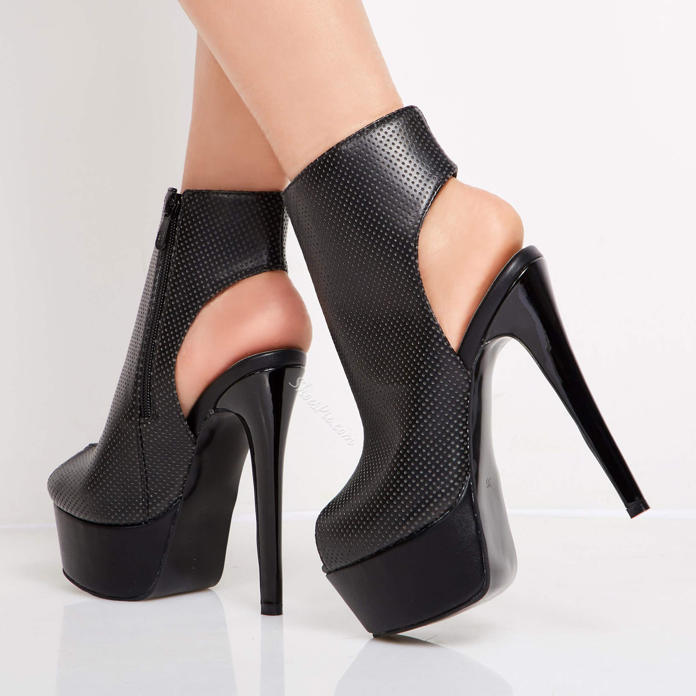 Shoespie Awesome Stiletto Heels Peep-toe Ankle Boots