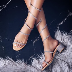 Shoespie Sexy Slip-On Chunky Heel Open Toe Sandals