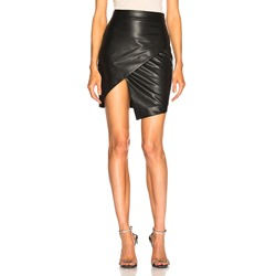 Plain Asymmetric High-Waist Women's Mini Skirt