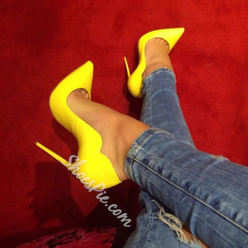 Shoespie Stylish Pointed Toe Low Cut Stiletto Heels