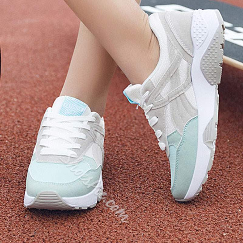 Shoespie Sexy Lace-Up Color Block Casual Sneakers