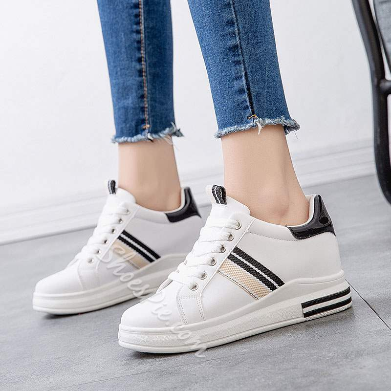 Shoespie Sexy Lace-Up Round Toe Platform Flat With Sneakers
