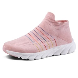 Shoespie Stylish Mid-Cut Upper Platform Round Toe Stripe Sneakers