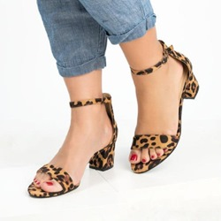 Shoespie Stylish Open Toe Buckle Chunky Heel Western Sandals