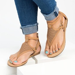 Shoespie Casual Open Toe Zipper Flat With Sandals
