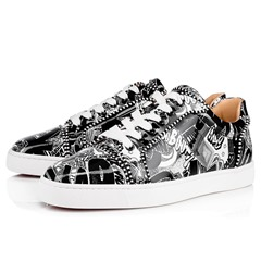 Shoespie Black Low-Cut Upper Flat Lace-Up Round Toe Men's Sneakers