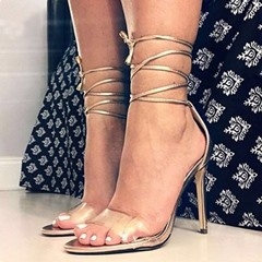 Shoespie Sexy Open Toe Lace-Up Stiletto Heel Cross Strap Sandals